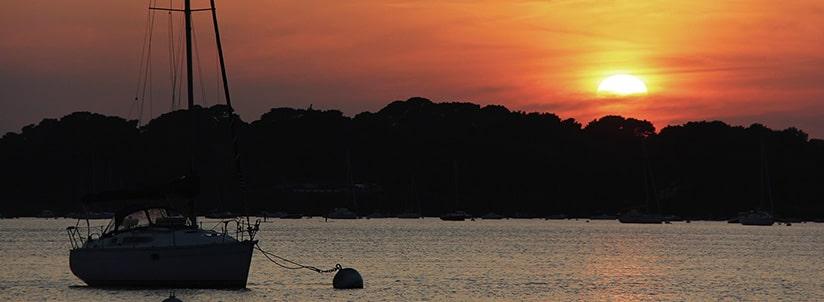 Bannière coucher de soleil en Bretagne dans le Morbihan